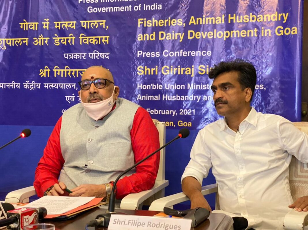 Union Fisheries Minister Giriraj Singh on Sunday announced an investment in fisheries of Rs 400 crore in Goa to make the coastal state fisheries hub of the country.